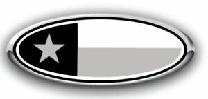 New Fits Various Ford Models Texas Flag Black gray Logo Overlay Decals 3pc Kit