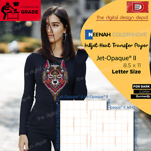 Neenah Transfer Paper Jet Opaque Ii For Dark Fabrics 100 Sheets 8 5 X 11