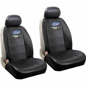 Brand New Ford Mustang Style Car Truck Synthetic Leather Front 2pc Seat Covers