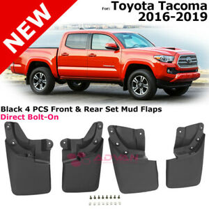 Mudflaps Complete Set For 16 18 Toyota Tacoma Splash Guard Front Rear Left Right