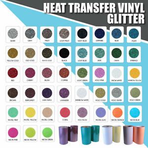 Glitter Htv Heat Transfer Vinyl 20 X 5 Ft New Colors Bling Bling
