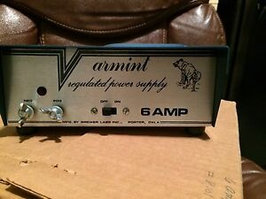 Varmint 6 Amp Regulated Power Supply 6 Nos Still In Box Vintage Nice Look