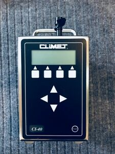 Climet Ci 40 Portable Laser Particle Counter Isokinetic Probe 50 Lpm Flow Rate