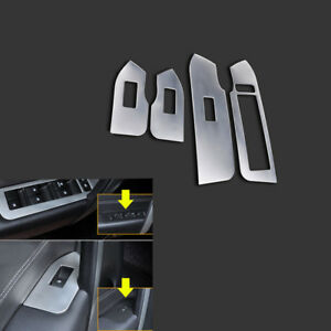4pcs Stainless Car Window Lift Decorative Panel For Chevrolet Captiva 12 15 Qy