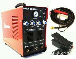 Plasma Cutter 50a Simadre 3in1 110 220 200a Tig Arc Mma Welder Ft Pedal 5200dx