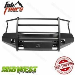Fab Fours Black Steel Elite Half Ton Replacement Bumper Fits 16 18 Nissan Titan