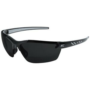 Edge Zorge G2 Bifocal Safety Glasses With 2 0 Smoke Polarized Lens Black Frame