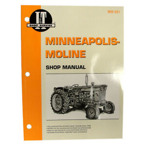 Service Manual For Minneapolis moline Tractor Mm201 335 4 5 Star 445