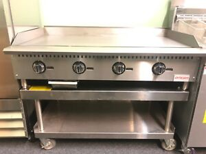 Omega Equipment 48 Commercial Gas Thermostatic Griddle Flat Top
