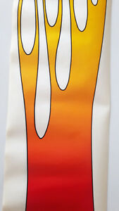 Vintage 1980s Flame Car Fire Sticker Decal Side Ombre 4 Color Racing Drag Nhra