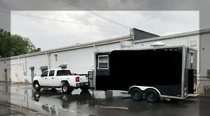 20 X 8 Black Pizza Concession Trailer Food Truck Great Condition 2 Yrs Old