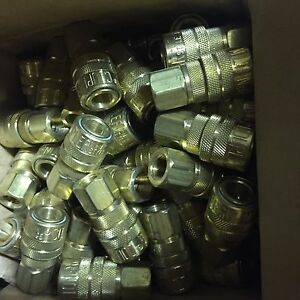 Milton 715 Air Hose Couplers M style Brass Usa 10pc New