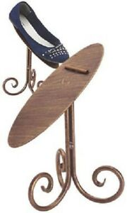 6 Bronze 8 Shoe Stands Display Metal Retail Tilted Stay Ledge Shoes Heals