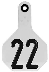 All American Livestock Tag Numbered Medium White 25 pk
