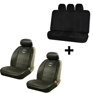 Synthetic Leather Seat Covers U A A Inc Black Bench Cover For Mustang