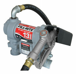 Fill Rite Dc Fuel Transfer Pump Cast Iron 13 Gpm 12 volt