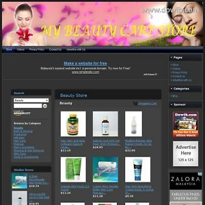 Beauty Store Complete Ready Made Affiliate Website Home Based Business Now