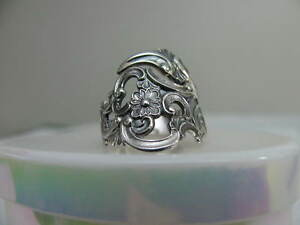 Th Marthinsen Norway Silver 830 Spoon Ring S 6 1 4 Floral Pierced Jewelry 6257