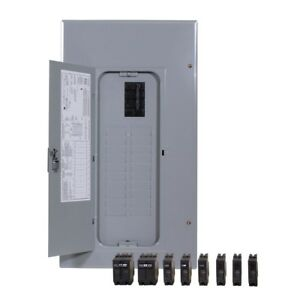 Main Circuit Breaker Indoor Panel Box 200 Amp 20 Space Load Center Heavy Duty