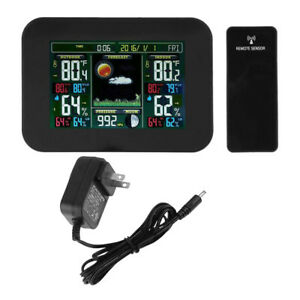 Lcd Digital Wireless Weather Station Temperature Humidity Sensor Barometer