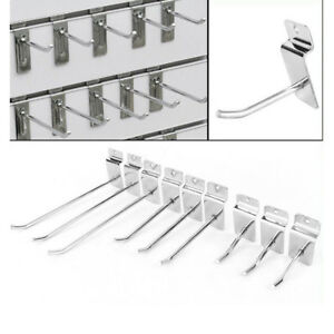 10x Shelving Hooks Supermarket Display Slatwall Pegboard Rack Store Shelf Hooks