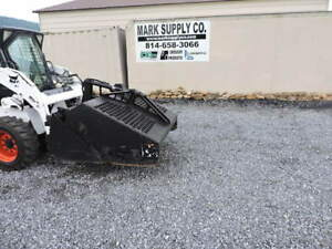 Bobcat 5b Landscape Rake Rock Hound 60 For Skid Steer Loader Quick Attach Rake