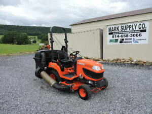2015 Kubota Bx1870 Sub Compact Tractor Belly Mower Bagger 3 Point 4x4 Pto Diesel