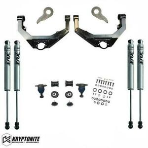 Kryptonite Stage 3 Leveling Kit With Fox Shocks 01 10 Chevy gmc 2500hd 3500hd