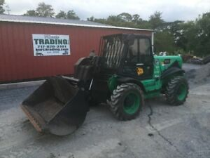 2007 Jcb 520 4x4 Compact Telescopic Forklift W Cab Bucket Forks Coming In