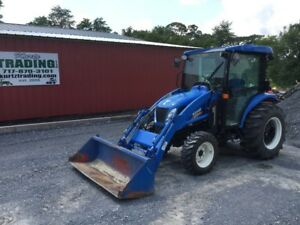 2016 New Holland Boomer 3050 4x4 Compact Tractor W Cab Loader