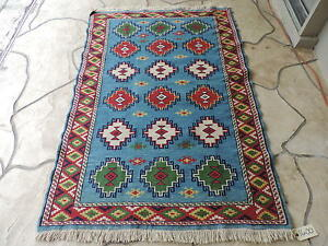 4x6ft Handloomed Turkish Shirvan Kilim Wool Rug