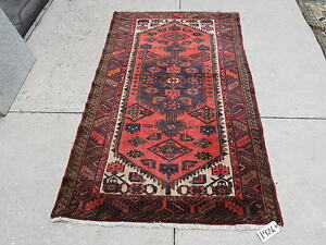 4x7ft Antique Handknotted Persian Serab Wool Rug