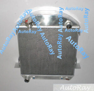 Aluminum Radiator For Ford Model T Bucket Ford Engine 3row At 24 27 Grill Shells