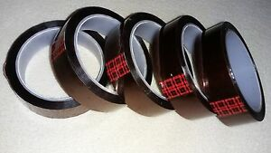 5 Rolls 3m 92 Polymide Kapton Tape 1 Wide 36yds 7500v High Temp 1 Inch Width