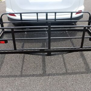 60 Hitch Mount Cargo Carrier Rack Cargo Basket Folding 500lb Luggage Black Us
