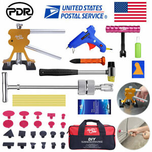 Us Paintless Hail Repair Led Light Pdr Dent Lifter Puller Ding Removal Tools Kit