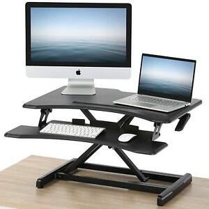 Fitueyes Height Adjustable Standing Desk Converter Sit Stand Up Riser 32 Tablet
