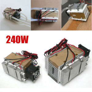 Thermoelectric Peltier Refrigeration System Kit Cooler Fan Water cooled Device