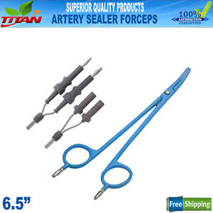 Bipolar Artery Sealer Forceps 6 5 Reusable Electro Surgical With 4mm Pin Cable