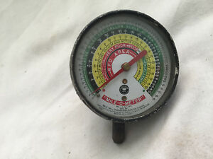 Vintage Mile O Meter Gale Hall Engineering Vacuum Gauge 1950 Rat Hot Rod