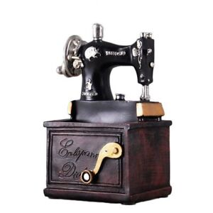 Vintage Antique Sewing Machine Singer Home Decor Storage Pen Holder Wooden Box