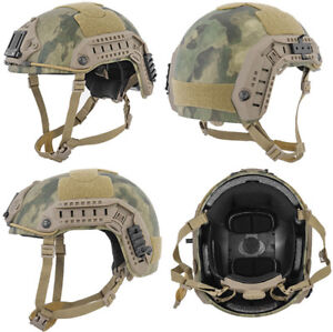 Maritime FAST Tactical Advanced Helmet LXL + Accessories in AT-FG Camo MilSim
