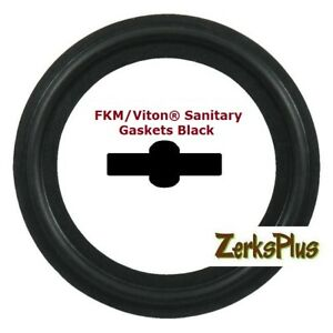 Sanitary Gasket Tri Clamp Style 6 Viton Black Price For 1 Pc