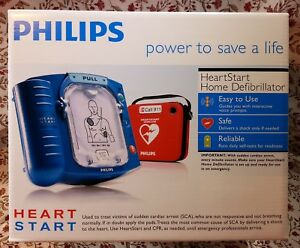 New Factory Sealed Philips Heartstart Home Aed Defibrillator With Red Carry Case