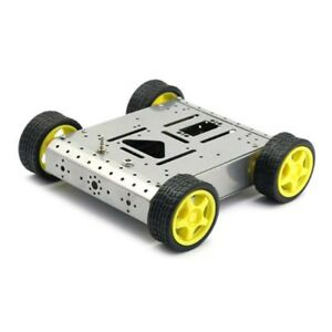 4wd Drive Arduino Robot Wheels Frame Aluminum Alloy Chassis Diy Kit H1r