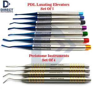 Dental Pdl Luxating Elevator Periotome Luxation Tooth Extracting Extraction Kit