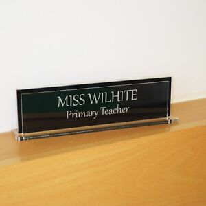 Two Side Executive Personalised Desk Name custom Engraved Sign name Plaque