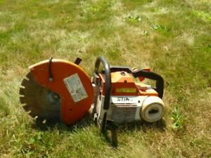 With Blade Stihl Ts460 Cut Off Saw 14 Inch demo Concrete Chop Saw
