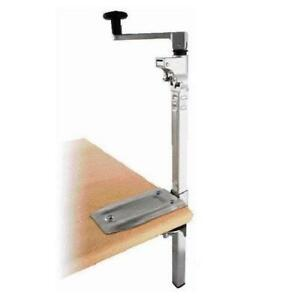 Boj Commercial Grade Can Opener Heavy Duty Table Mount 19 nickel Plated