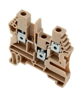 Er4c Imo Din rail Terminal Block 1in 2out 30a 600v 26 10awg Beige 25pcs